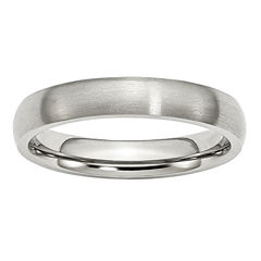 Mens 4mm Stainless Steel Wedding Band