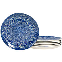 Tabletops Gallery® Castleware Set of 6 Melamine Salad Plates