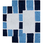 Chesapeake Merchandising Mosaic Tiles 2-pc. Bath Rug Set