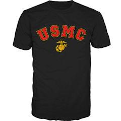 Military USMC Short-Sleeve Graphic T-Shirt