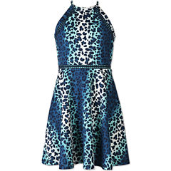 Speechless Animal Print Sleeveless Skater Dress - Girls' 7-16