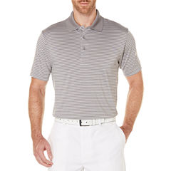 PGA Tour N/A Short Sleeve Stripe Mesh Polo Shirt