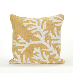 Liora Manne Frontporch Coral Square Outdoor Pillow