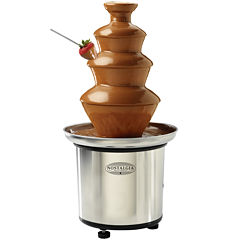 Nostalgia CFF986 4-Tier 2-Pound Capacity StainlessSteel Chocolate Fondue Fountain