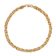 Infinite Gold™ 14K Yellow Gold Hollow Triple Link Bracelet