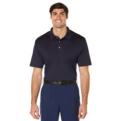 PGA TOUR Short Sleeve Solid Jersey Polo Shirt