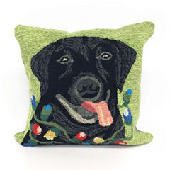 Liora Manne Frontporch Season'S Greetings Square Outdoor Pillow