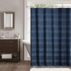Madison Park Colton Jacquard Shower Curtain