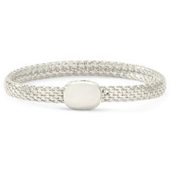 Monet® Silver-Tone Magnetic Closure Bracelet