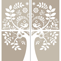 Love Birds Large Wall Decal