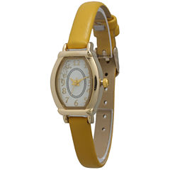 Olivia Pratt Womens Petite Mustard Leather Watch 13420Mustard