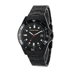 Personalized Mens Black Dial Diver Bracelet Watch
