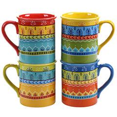 Certified International Valencia Set Of 4 Mugs