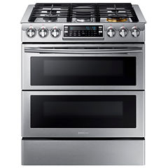 Samsung 5.8 Cu. Ft. Flex Duo™ With Dual Door Slide-In Double Oven Gas Range