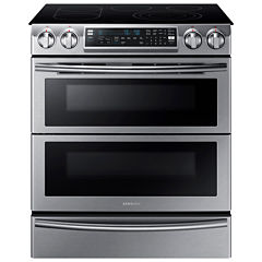 Samsung 5.8 Cu. Ft. Flex Duo™ With Dual Door Slide-In Double Oven Electric Range