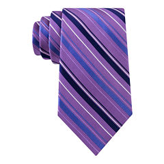 Stafford® Lakefront Track Stripe Tie - Extra Long