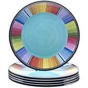Certified International Serape Set of 6 Melamine Dinner Plates
