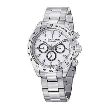 Sthrling Original Mens White Dial Stainless Steel Watch