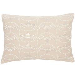 BiniChic Terracotta Mosaic Oblong Decorative Pillow