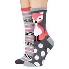Mixit 2 Pair Crew Socks