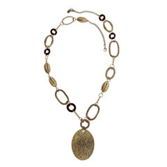 EL by Erica Lyons Womens Gold Over Brass Pendant Necklace