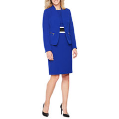 Black Label by Evan-Picone Long Sleeve Jacket or Sleeveless Colorblock Sheath