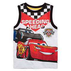Disney By Okie Dokie Short Sleeve Cars T-Shirt-Toddler Boys