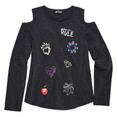 Long Sleeve Crew Neck Descendants T-Shirt-Big Kid Girls