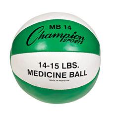 Champion Sports 1415lb Leather Medicine Ball