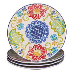 Certified International Tapas Set of 4 Dinner Plates