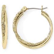 Monet® Gold-Tone Small Twist Hoop Earrings