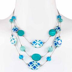 Studio By Carol Womens Illusion Necklace