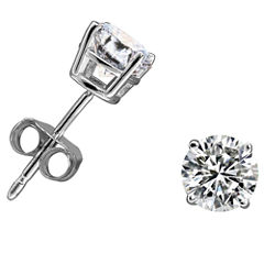 1/3 CT. T.W. Round White Diamond 14K Gold Stud Earrings
