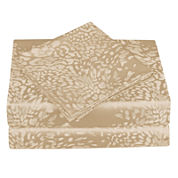 Cathay Home 300tc Leopard Jacquard Sheet Set