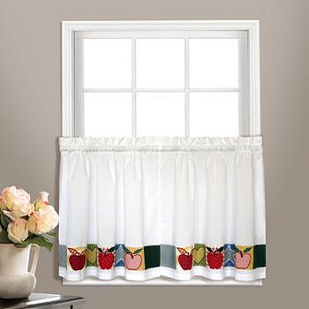 United Curtain Co Appleton Rod pocket Window Tiers