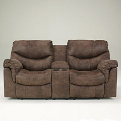 Signature Design by Ashley® Holton Double Reclining Loveseat with Console