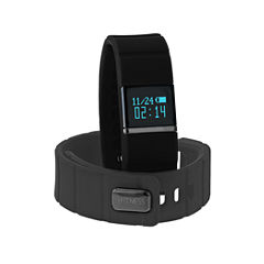 Itouch Ifitness Activity Tracker Black/Black And Charcoal Gray Interchangeable Band Unisex Multicolor Strap Watch-Ift5417bk668-734