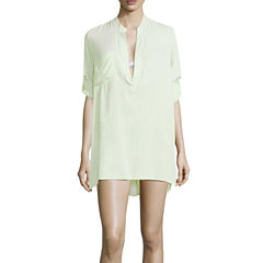 Suhani Solid Rayon Swimsuit Cover-Up Dress