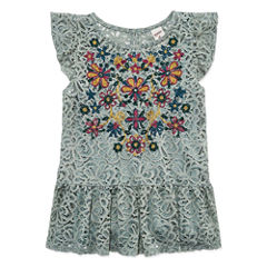 AZ Lace Embroidered Top - Girls' 7-16 & Plus