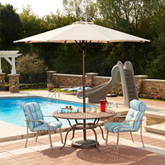 Cabo Auto-Open 9-ft Octagonal Market Umbrella in Champagne Olefin