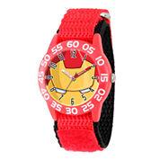 Marvel Boys Red Iron Man Time Teacher Plastic Strap Watch W003247