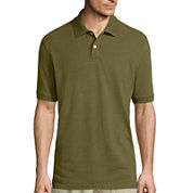St. John's Bay® Short-Sleeve Slim-Fit Pique Polo
