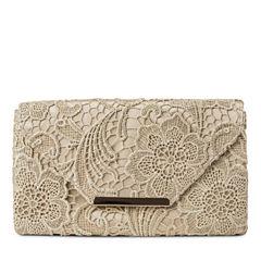 Gunne Sax by Jessica McClintock Riley Lace Envelope Evening Bag