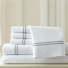 1000 Thread Count Cotton Blend  Double Marrow Hem6pc Sheet Set