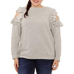 Arizona Long Sleeve Sweatshirt-Juniors Plus