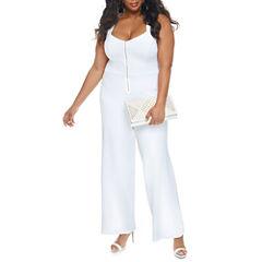 Fashion To Figure Diana Zip Front Jumpsuit-Plus