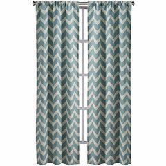 Richloom Rhodes 2-Pack Chevron Rod-Pocket Curtain Panels