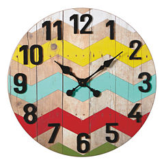 Colorful Zig Zag Wall Clock