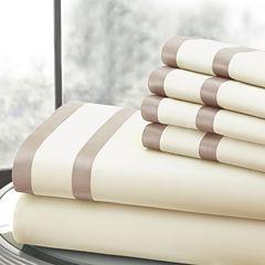 Pacific Coast Textiles Double Satin Band 1000tc Sheet Set