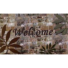 Achim Welcome Palms Rectangular Doormat